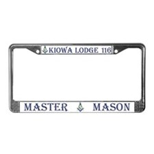 Kiowa Lodge License Plate Frame