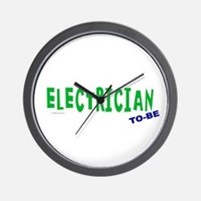 Electrician To Be Wall Clock