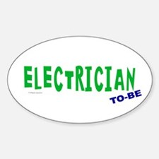 Electrician To Be Oval Decal