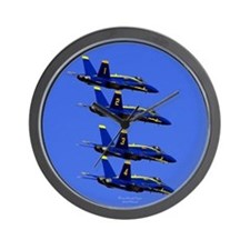 Unique Fly navy Wall Clock