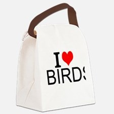 I Love Birds Canvas Lunch Bag