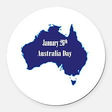 Unique Australia day Round Car Magnet