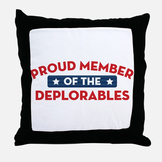 Proud Member of the Deplorables Throw Pillow