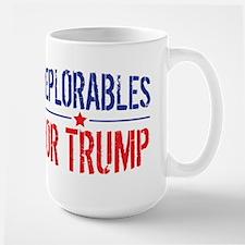 Deplorables for Trump Large Mug