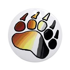 BEAR PRIDE PAWS/TONES Ornament (Round)