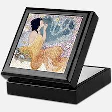 Art Deco Vanity Lady Keepsake Box
