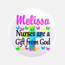 BLESSED NURSE Button