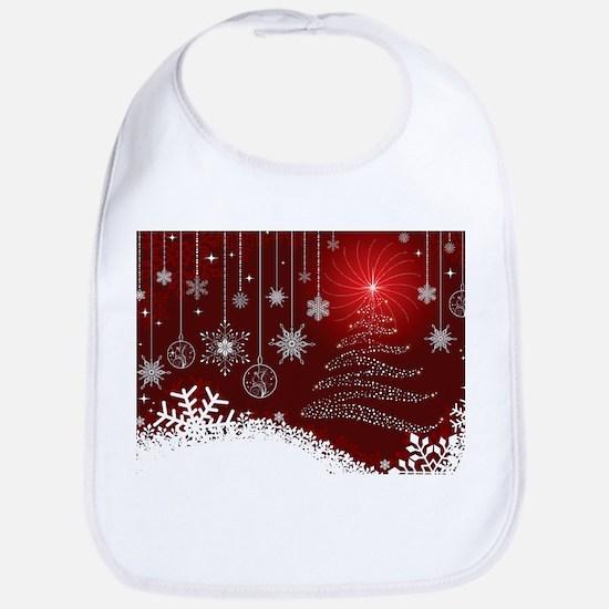 Decorative Christmas Ornamental Snowflakes Bib
