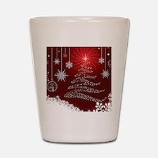 Decorative Christmas Ornamental Snowfla Shot Glass