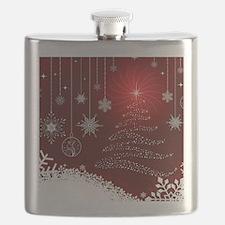 Decorative Christmas Ornamental Snowflakes Flask