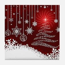Decorative Christmas Ornamental Snowf Tile Coaster