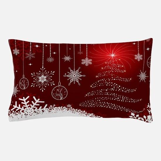 Decorative Christmas Ornamental Snowfl Pillow Case