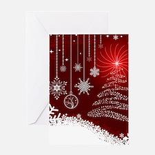 Decorative Christmas Ornamental Sno Greeting Cards