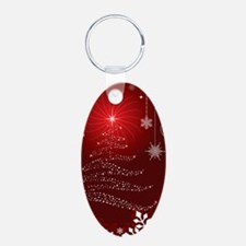 Decorative Christmas Ornamental Snowflak Keychains
