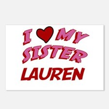 I Love My Sister Lauren Postcards (Package of 8)
