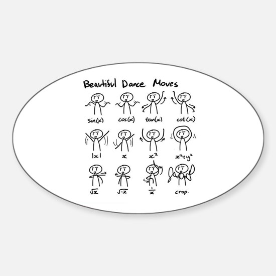 Cute Mathematics Sticker (Oval)