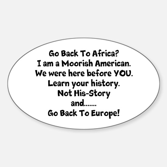 Go Back To Africa Decal