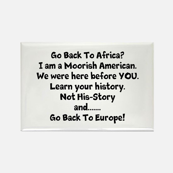 Go Back To Africa Magnets
