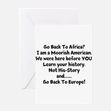 Go Back To Africa Greeting Cards
