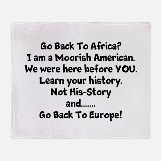 Go Back To Africa Throw Blanket