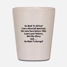 Go Back To Africa Shot Glass