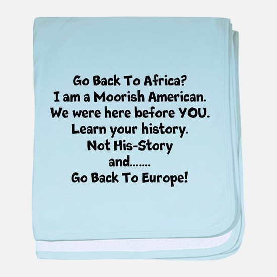 Go Back To Africa baby blanket