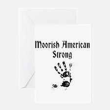 Moorish American Strong Greeting Cards