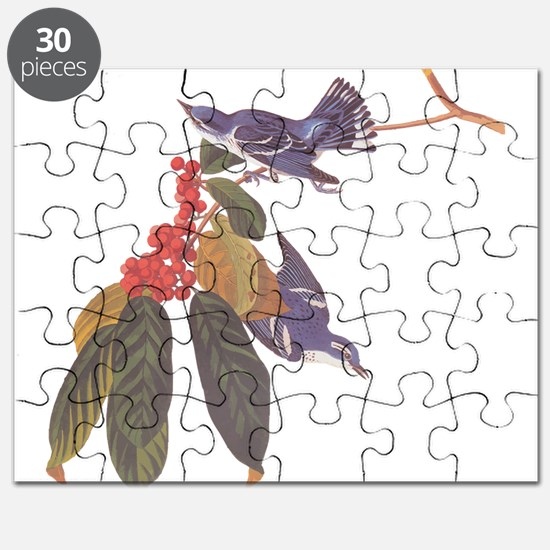 Cerulean Warbler Vintage Audubon Birds Puzzle
