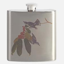 Cerulean Warbler Vintage Audubon Birds Flask
