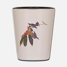 Cerulean Warbler Vintage Audubon Birds Shot Glass