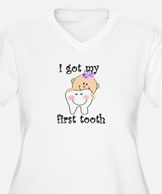 first tooth girl Plus Size T-Shirt