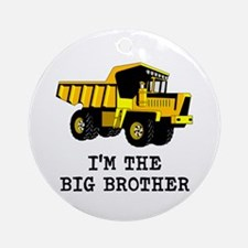 Im the Big Brother Dump Truck Round Ornament