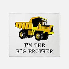 Im the Big Brother Dump Truck Throw Blanket