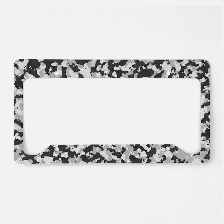 cute white camo license plate holder