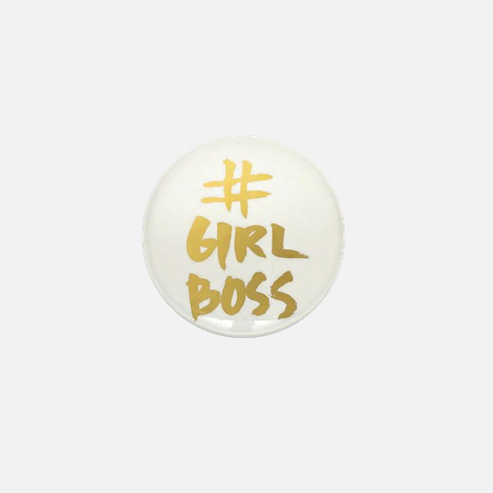 Girl Boss Mini Button
