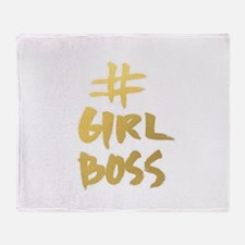 Girl Boss Throw Blanket