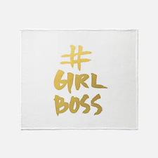 Girl Boss Throw Blanket