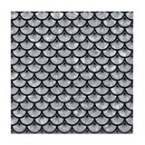 Black ands grey fish scale Coasters