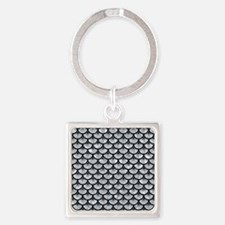 SCA3 BK-GY MARBLE (R) Square Keychain