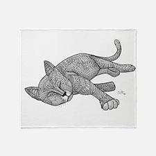 Winking Cat Throw Blanket