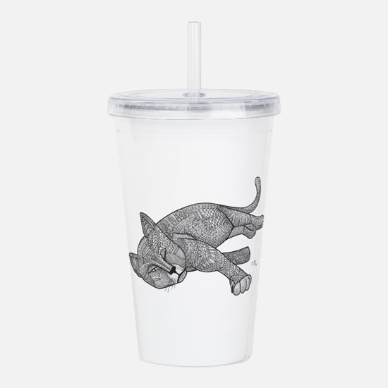 Winking Cat Acrylic Double-wall Tumbler