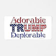 Adorable Trump Deplorable Aluminum License Plate