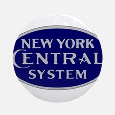 New York Central System logo - blue Round Ornament