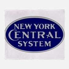 New York Central System logo - blue Throw Blanket