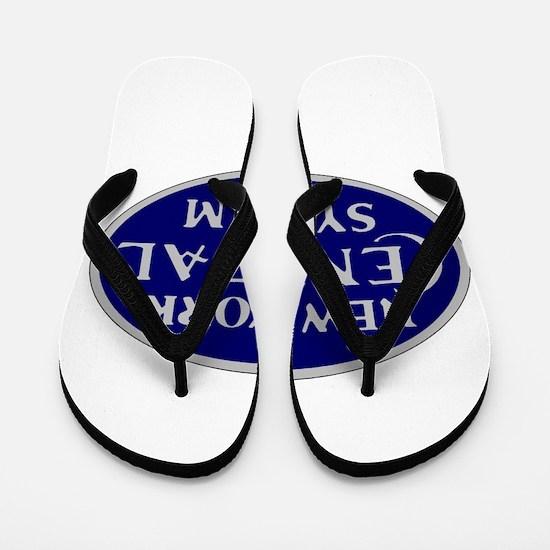 New York Central System logo - blue Flip Flops