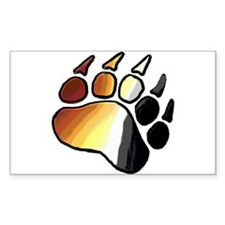 BEAR PRIDE PAWS/TONES Rectangle Decal