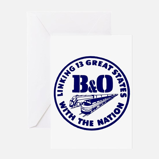 B&O Railroad Logo Greeting Cards