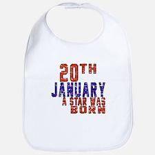 20 January Birthday Designs Bib