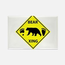 Bear and Tracks XING Rectangle Magnet