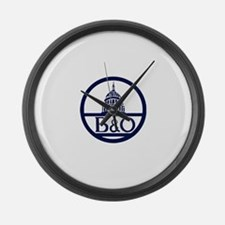 Baltimore & Ohio Railroad- Modern Large Wall Clock